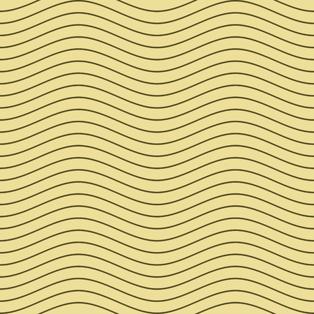 gently: Elegant seamless pattern of gently curved horizontal lines. Endless abstract print of thin wavy stripes. Long wavelength. Simple contrasting background. Vector illustration for fabric, paper and other