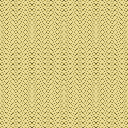 varying: Abstract seamless pattern of horizontal wavy lines in olive colors. Beautiful endless print of curved varying thickness stripes. Vector illustration for fabric, paper and other