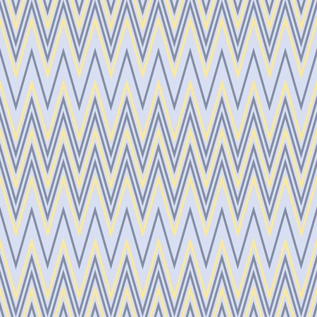 flexure: Elegant seamless zigzag pattern in yellow and blue colors. Endless horizontal zig zag print. Vector illustration for beautiful creative design Illustration