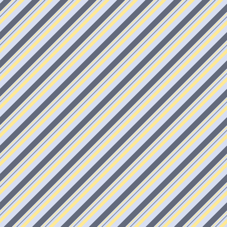 varying: Seamless striped pattern of diagonal parallel varying thickness lines. Elegant continuous print in blue, gray, yellow colors. Vector illustration for fabric, wrapping paper and other Illustration