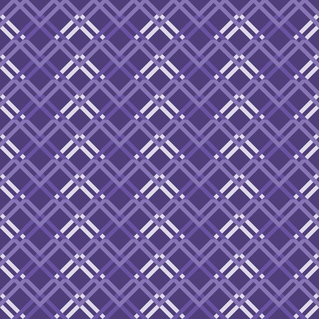 Abstract seamless geometric pattern with varicolored zigzag elements. Endless zig zag print in white and shades of purple colors. Modern tracery for stylish creative design. illustration