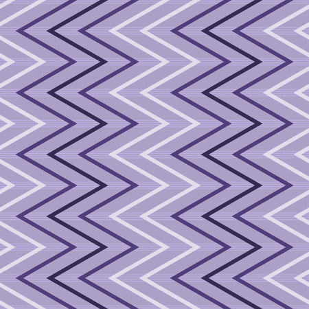 flexure: Elegant seamless pattern of vertical zigzag in light gray and shades of purple colors. Continuous zig zag on horizontal striped background. illustration for various creative projects