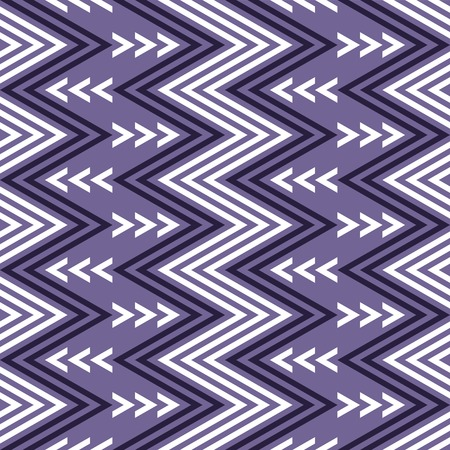 flexure: Elegant seamless pattern of vertical zigzag in white and purple colors. violet continuous zig zag print. illustration for various creative projects