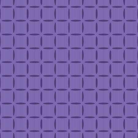 elongated: Seamless pattern of elongated oval elements on striped background. Intersecting chains of ellipses form cute simple ornament. Elegant endless print in purple and light gray colors. illustration
