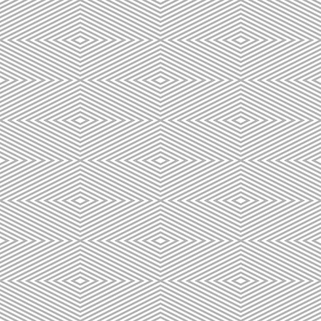 laconic: Seamless pattern of rhombuses. Diamond-shaped frames of decreasing sizes placed one inside another forming continuous drawing. Elegant laconic print in white and gray colors. illustration