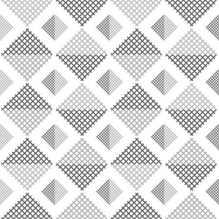 contrasting: Abstract seamless pattern of square lattices in dark and light shades of gray on white background. Simple contrasting geometric print. illustration for various creative projects