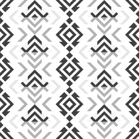 contrasting: Abstract seamless geometric pattern in dark and light shades of gray color on white background. Stylish modern contrasting print. illustration for various creative projects