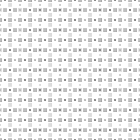 numerous: Abstract seamless pattern of numerous small squares. Simple laconic geometric print in white, black, gray colors. illustration for various creative projects