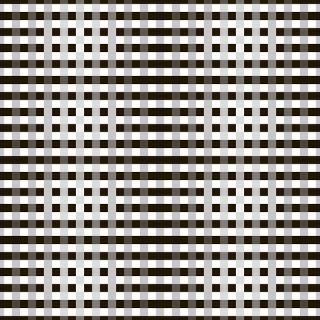 brindled: Abstract seamless geometric monochrome pattern of crossing stripes. Overlapping bands in black, white and shades of gray colors. Illustration