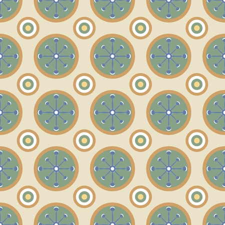 contrasting: Beautiful seamless pattern in vintage colors. Cute geometric ornament in retro style. Contrast print for fabric, paper and other. Vector illustration for fashion design Illustration
