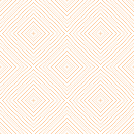 graphically: Abstract seamless geometric pattern of squares. Complex graphically print in white and orange colors. Vector illustration for various creative projects Illustration