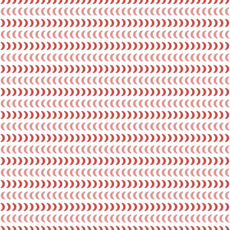 numerous: Abstract seamless geometric pattern in white, red, pink colors. Horizontal rows of numerous small crescent shapes. Simple cute ornament. Vector illustration for various creative projects Illustration