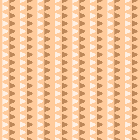 undulating: Abstract seamless geometric pattern. Vertical rows of undulating shapes. Endless wavy ornament in orange, brown, white colors. Vector illustration for various creative projects