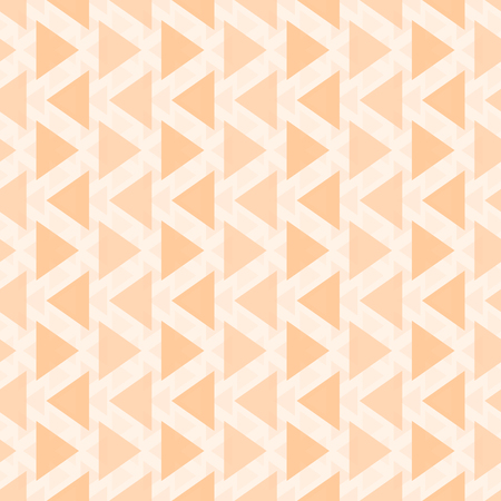multidirectional: Abstract seamless geometric pattern of different sized translucent triangles. Endless graphic print orange color. Vector illustration for fabric, paper and other