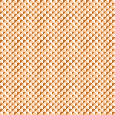 knobby: Abstract seamless pattern of triangular elements in shades of orange color. Multicolored triangles form studded texture. Vector illustration for fabric, wrapping paper and other