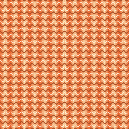 striated: Abstract seamless geometric pattern. Horizontal wavy lines on the background of thin vertical stripes. Simple cute print in orange, brown, yellow colors. Vector illustration