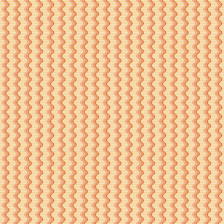 band bar: Abstract seamless geometric pattern. Vertical wavy triple lines on the background of thin horizontal stripes. Simple endless print in yellow and shades of orange colors
