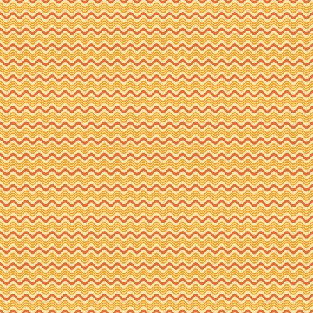 wavy fabric: Abstract seamless geometric pattern. Horizontal wavy lines on the background of low contrast cellular ornament. Orange and yellow colors. Vector illustration for fabric, paper and other