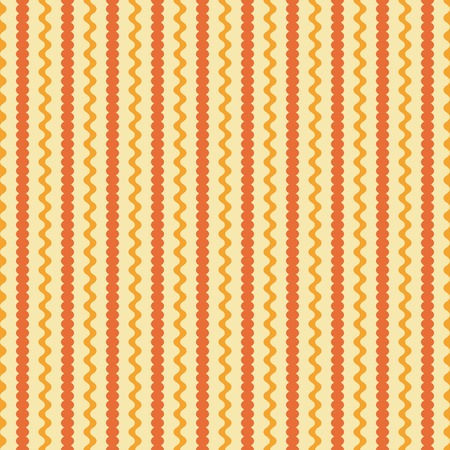 sinuous: Seamless pattern of vertical wavy lines and strips with undulating rounded edges. Abstract geometric endless print in orange and yellow colors. Vector illustration for fabric, paper and other Illustration
