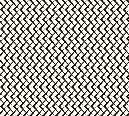acute angle: Abstract seamless geometric black and white pattern of arrow shaped elements. Repeating pointer-shaped figures. Endless graphic print. Vector illustration for fabric, paper and other