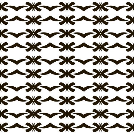 roundish: Elegant seamless black and white pattern with graceful roundish figures. Vector illustration for fabric, paper and other Illustration