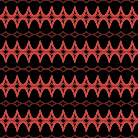 arched: Elegant seamless pattern in black and red colors. Horizontal rows of repeating arched elements forming beautiful ornament. Vector illustration for various creative projects Illustration