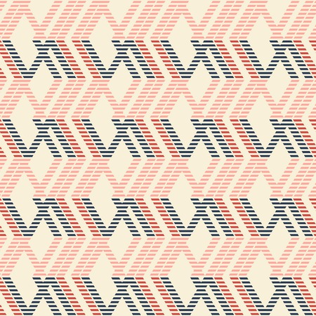 in flexed: Abstract seamless geometric pattern of rhomboid shapes with stylish striped lines in pleasant color palette.