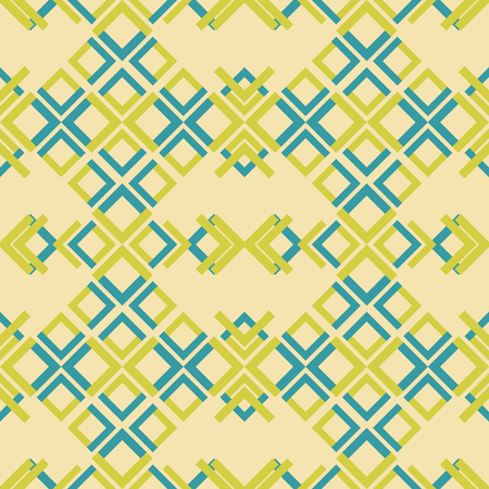 Abstract seamless geometric pattern of colored rectangular elements Ilustrace