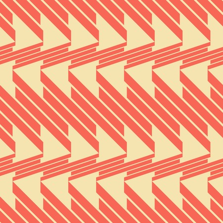Abstract seamless geometric pattern of thick diagonal segments in retro color palette