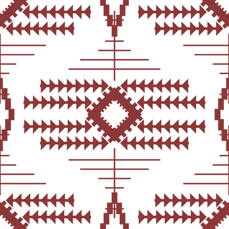 Abstract seamless geometric pattern of linked triangles, lines and polygons. Fashion print in wine and white colors.