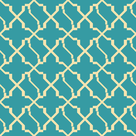 Abstract seamless geometric pattern in yellow and blue retro colors