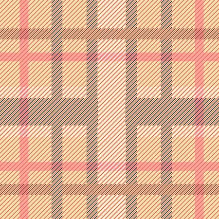 Seamless plaid madras pattern. Abstract geometric vector print