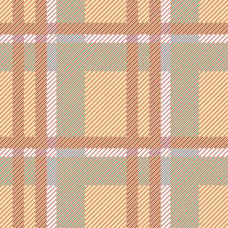Seamless checkered pattern. Abstract geometric plaid vector print for fabric, paper and other