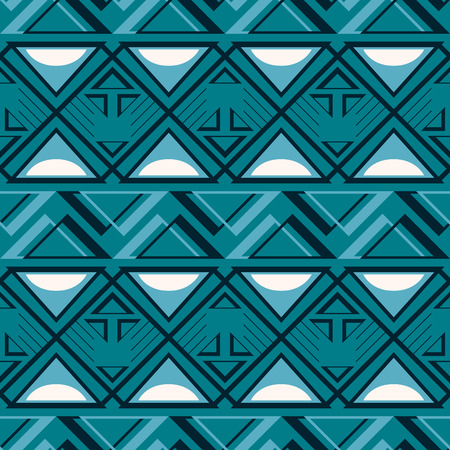 Abstract geometric pattern in blue and white colors.
