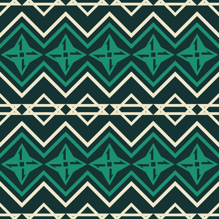 Abstract seamless geometric pattern with zigzag lines and star shapes