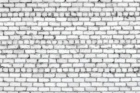 White brick wall texture. Old brickwork surface. Grunge background Standard-Bild - 97661177