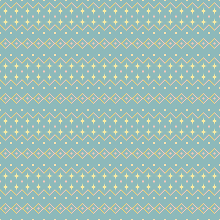 Seamless abstract geometric pattern. Cute uncomplicated vector print  in blue, yellow, pink pastel colors