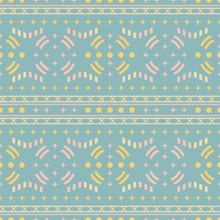 Seamless abstract geometric pattern in pastel colors. Retro disco style vector print