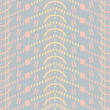 Seamless abstract geometric pattern in pastel colors. Cute uncomplicated vector print Illustration