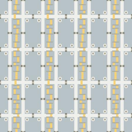 Seamless abstract mechanic shapes geometric pattern
