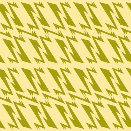 Seamless abstract geometric pattern olive green and muted yellow colors Illustration