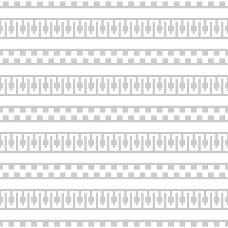 Seamless pattern of horizontal stripes white and light gray colors. Ancient Greek motifs geometric ornament