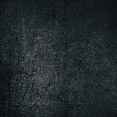 Schwarze Farbe lackierte Metallstruktur. Alter dunkelgrau zerkratzte schäbige metallische Oberfläche. Retro Grunge Hintergrund