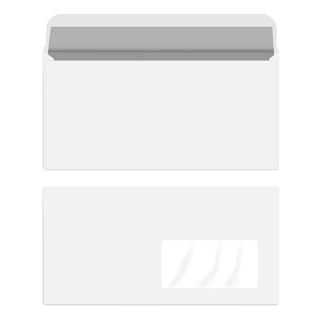 White right hand window DL envelope, vector mockup