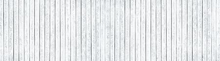 Wide white old knotty wood texture. Whitewashed wooden board panorama. Shabby chic panoramic background