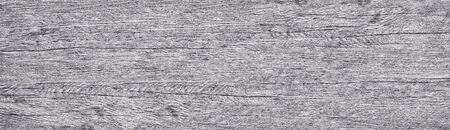 Light gray shabby wooden panoramic grain texture. Wide long wood rustic background 免版税图像