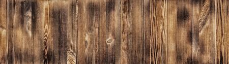 Wide natural wood board panoramic texture. Widescreen wooden pattern. Long rustic background Фото со стока