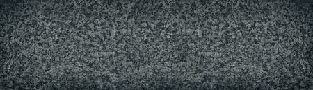 Old dark metal wide texture. Shabby dirty metallic surface. Grungy long background Фото со стока - 132024148