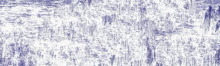 Wide abstract texture. Grungy purple ink pattern of chaotic paint spots and scratches. Shabby grunge background Фото со стока