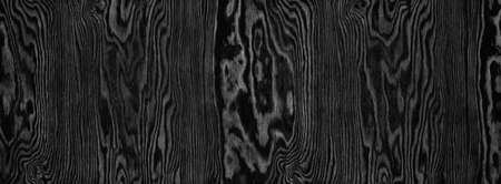 Black plywood wide panoramic texture. Wood pattern. Dark widescreen wooden background